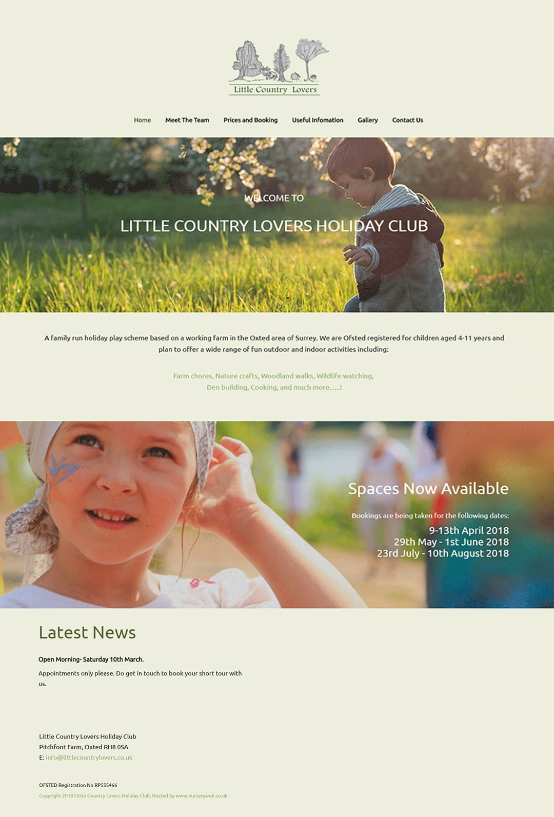 Little Country Lovers Holiday Club