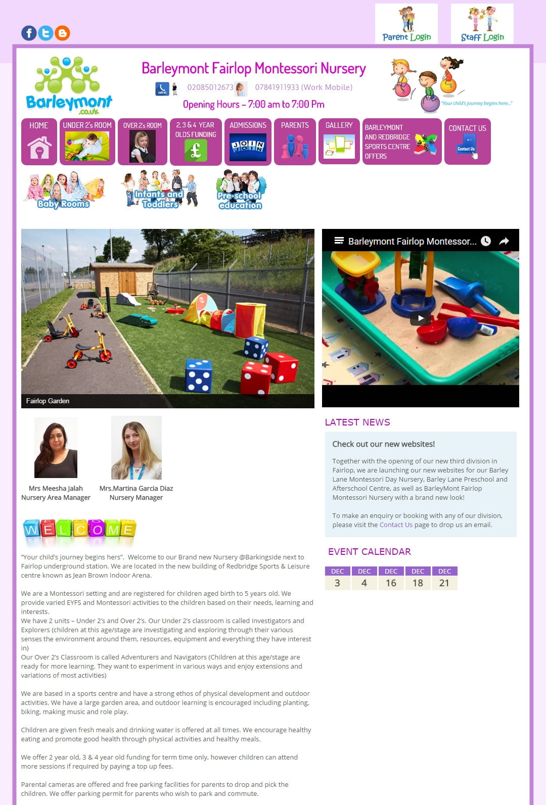Barleymont Fairlop Montessori Nursery