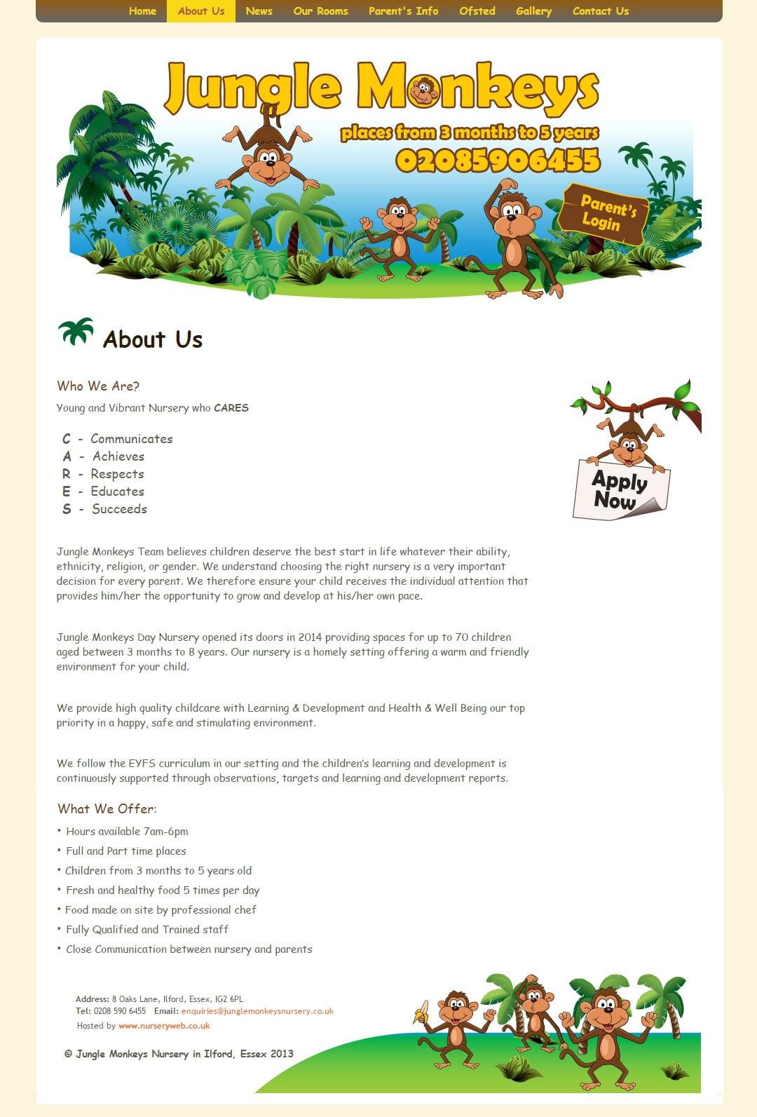 Jungle Monkeys Nursery