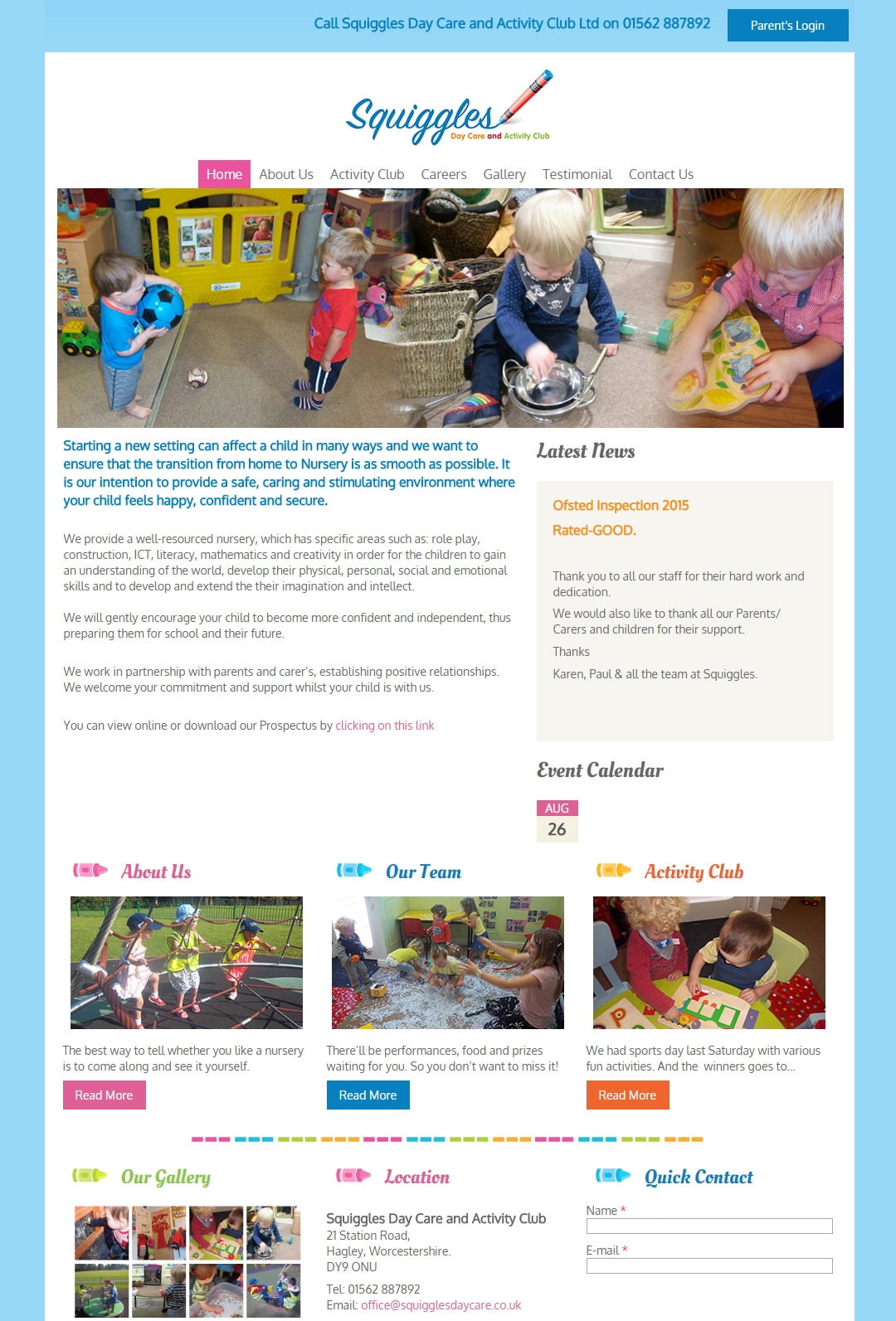 Squiggles Day Care and Activity Club Ltd