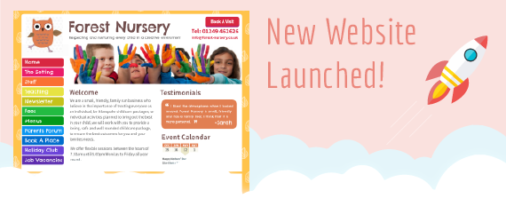 NurseryWeb - New Website Launched Banner