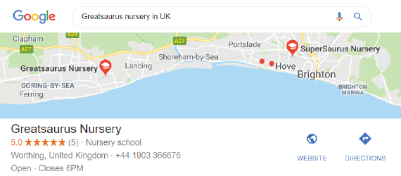 NurseryWeb - Google Map Listing