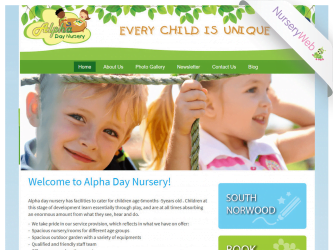 NurseryWeb - Alpha Day Nursery Website Design