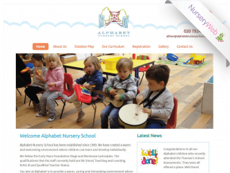NurseryWeb - Alphabet Nursery School Website Design