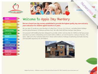 NurseryWeb - Apple Day Nursery Website Design