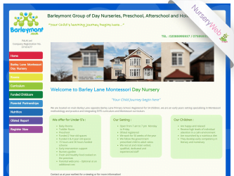 NurseryWeb - Barley Lane Montessori Day Nursery Website Design