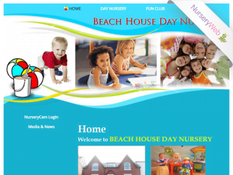 NurseryWeb - Beach House Day Nursery Website Design