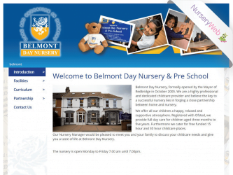 NurseryWeb - Belmont Day Nursery & Pre-School Website Design