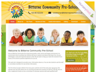 NurseryWeb - Bitterne Community Pre-School Website Design