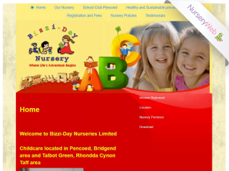 NurseryWeb - Bizzi Day Nursery Website Design