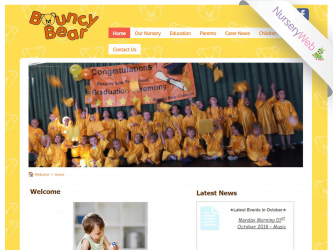 NurseryWeb - Bouncy Bear Childcare Website Design
