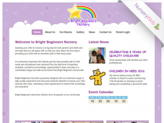 NurseryWeb - Bright Beginners Nursery Website Design