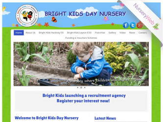 NurseryWeb - Bright Kids Day Nursery Website Design