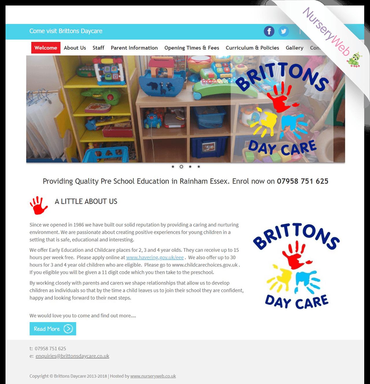 Sample Portfolio Of Nurseries Website Design Nurseryweb
