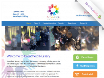 NurseryWeb - Broadfield Nursery Website Design