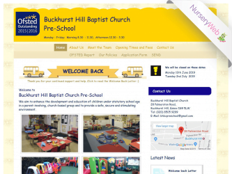 NurseryWeb - Buckhurst Hill Baptist Church Pre-School Website Design