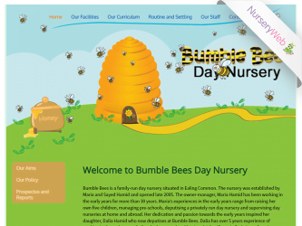NurseryWeb - Bumble Bees Day Nursery Website Design