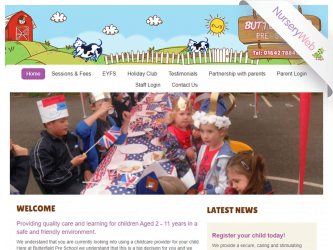 NurseryWeb - Butterfield Pre-School Website Design