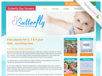 NurseryWeb - Butterfly Day Nursery Website Design