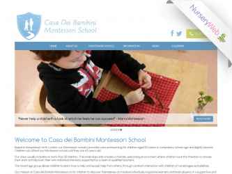 NurseryWeb - Casa Dei Bambini Montressori School Website Design