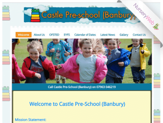 NurseryWeb - Castle Pre-School Banbury Website Design