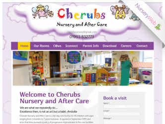 NurseryWeb - Cherubs Nursery & Day Care Website Design