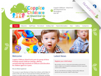 NurseryWeb - Coppice Childcare Shard End Website Design