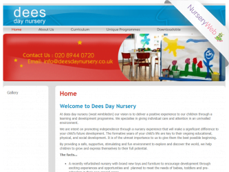 NurseryWeb - Dees Day Nursery Website Design