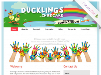 NurseryWeb - Ducklings Childcare Website Design