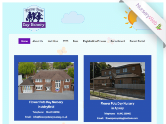 NurseryWeb - Flower Pots Day Nursery Website Design