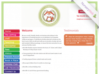NurseryWeb - Forest Nursery & Pre-School Website Design