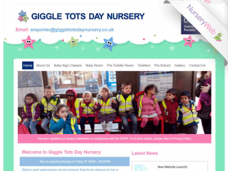 NurseryWeb - Giggle Tots Day Nursery Website Design