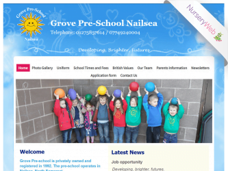 NurseryWeb - Grove Pre-School Nailsea Website Design