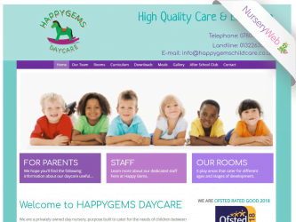 NurseryWeb - Happy Gems Daycare Website Design