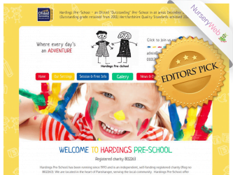 NurseryWeb - Hardings Pre-School Website Design