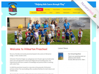 NurseryWeb - Hilmarton Pre-School Website Design