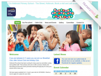NurseryWeb - Holbrook Pre-School Playgroup Website Design