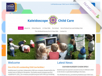NurseryWeb - Kaleidoscope Child Care Website Design
