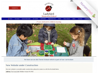 NurseryWeb - Ladybird Montessori school Website Design