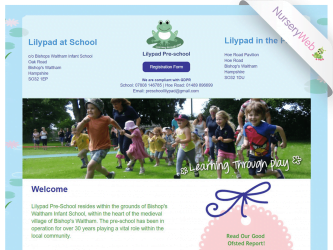 NurseryWeb - Lilypad Pre-School Website Design