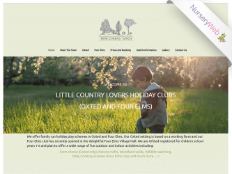 NurseryWeb - Little Country Lovers Website Design