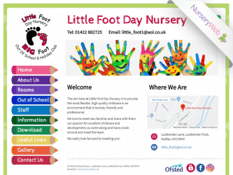 NurseryWeb - Little Foot Day Nursery Website Design