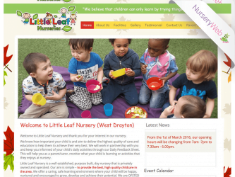 NurseryWeb - Little Leaf Nurseries Website Design