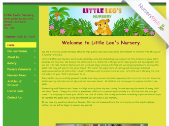 NurseryWeb - Little Leos Nursery website Design