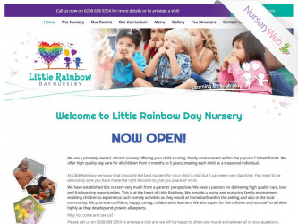 NurseryWeb - Little Rainbow Day Nursery Website Design
