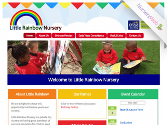 NurseryWeb - Little Rainbow Nursery Website Design