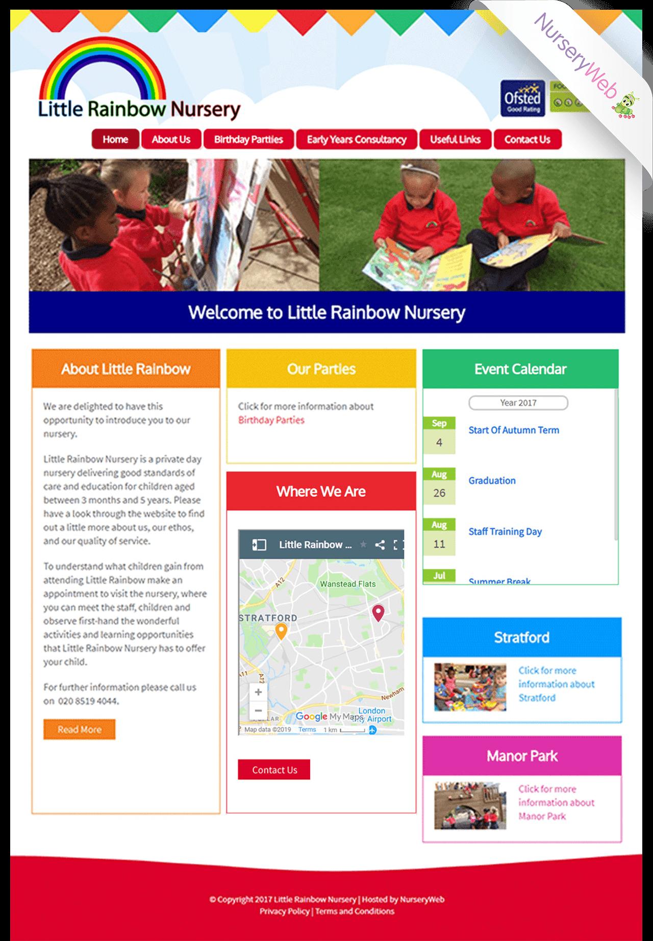 Portfolio Sample Of Nurseries Website Design Nurseryweb