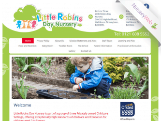 NurseryWeb - Little Robins Day Nursery Website Design
