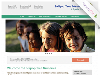 NurseryWeb - Lollipop Tree nurseries website Design