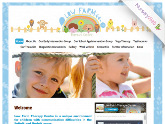 NurseryWeb - Low Farm Therapy Centre Website Design